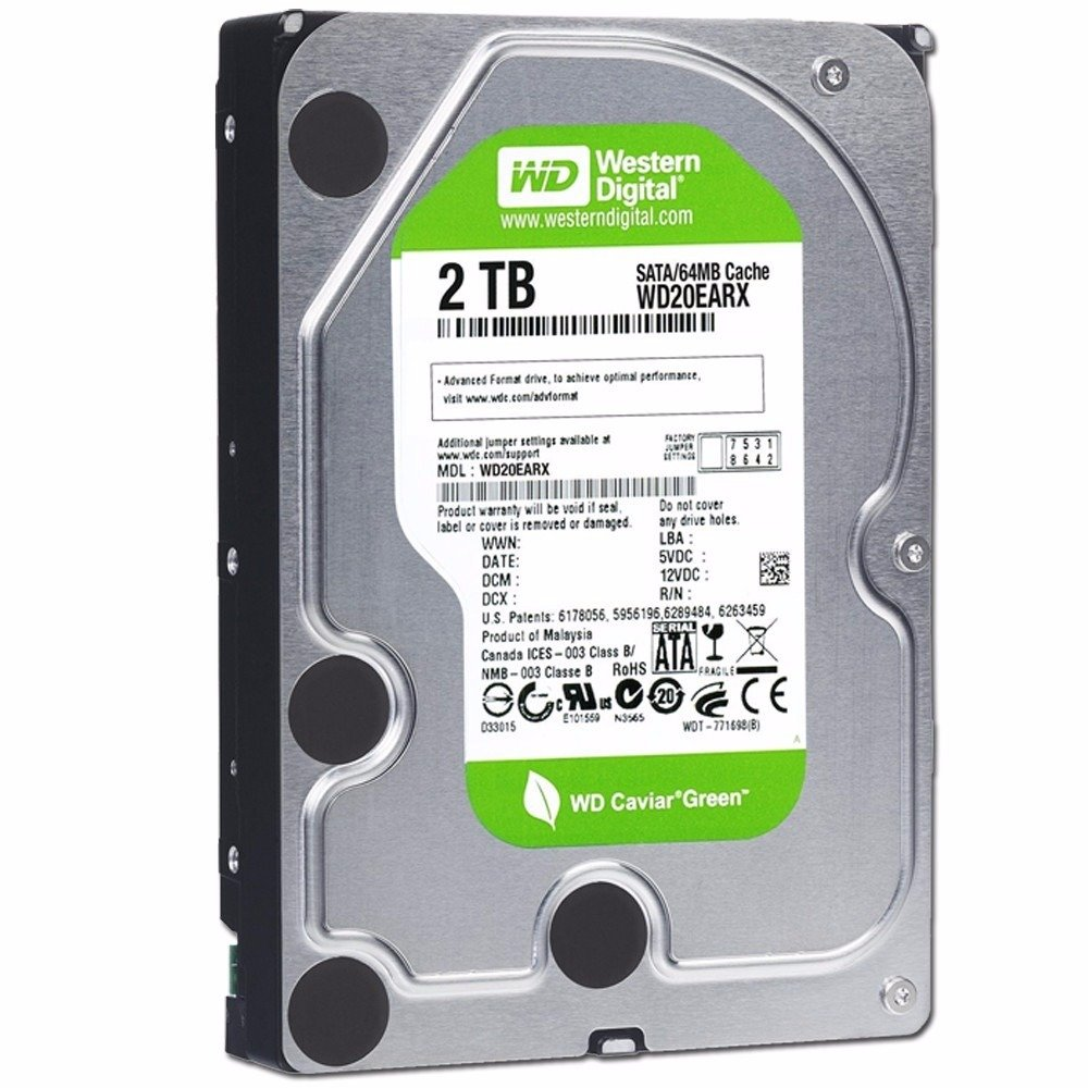 2TB WD Caviar Green HDD
