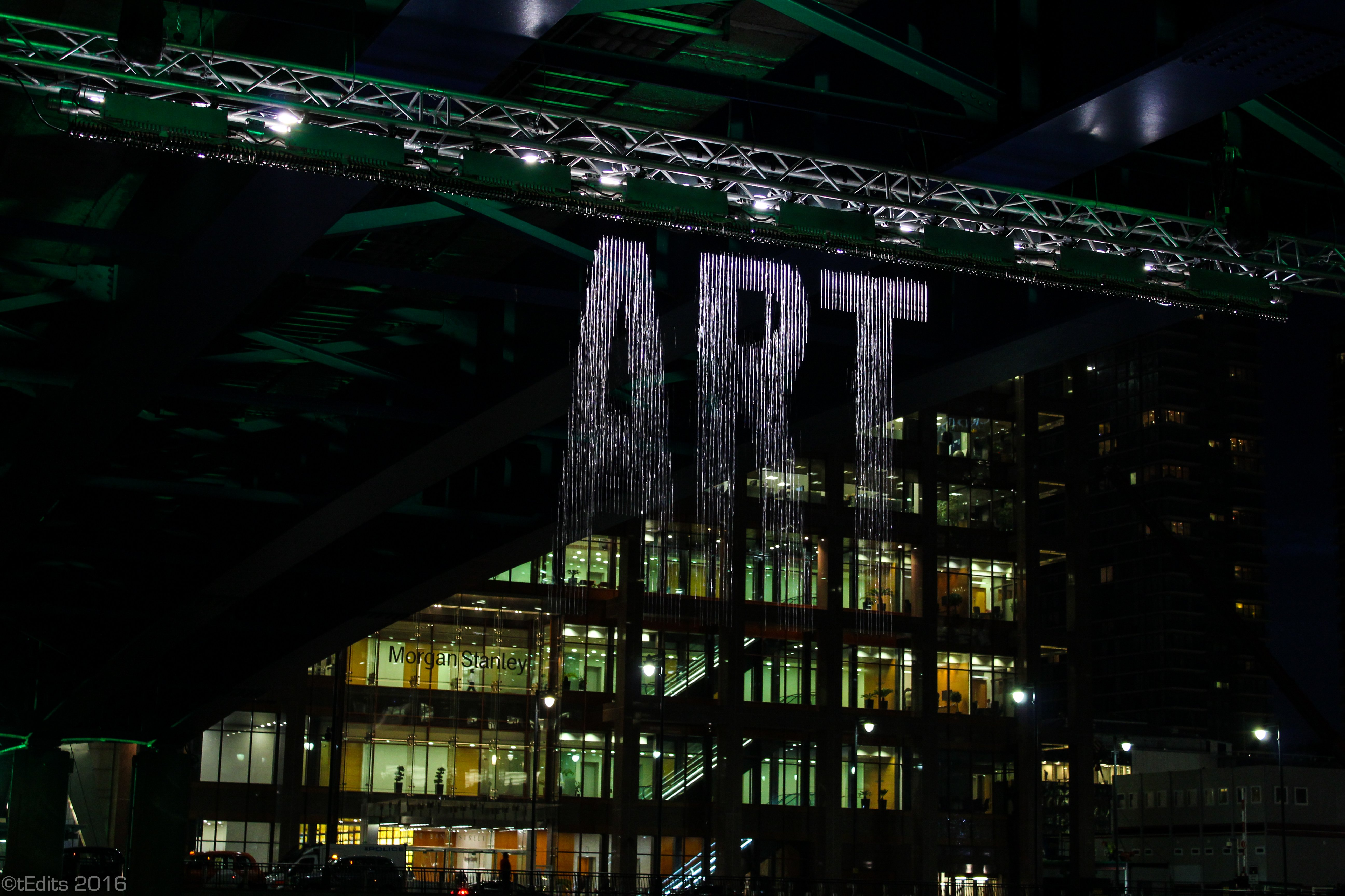 Canary Wharf Winter Lights 2016 - Bit.Fall Art