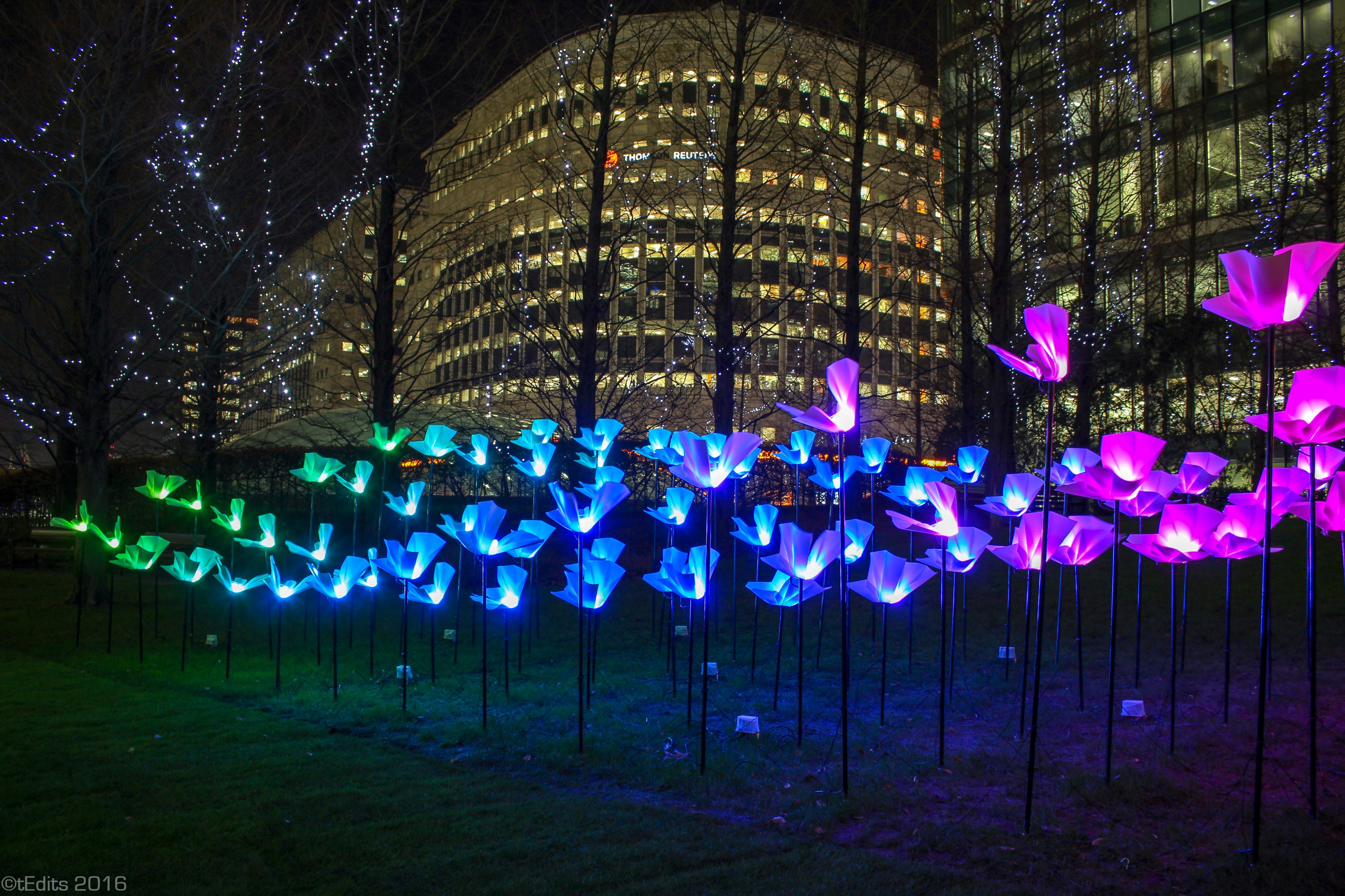 Canary Wharf Winter Lights 2016 - On The Wings of Freedom, Aether & Hemera
