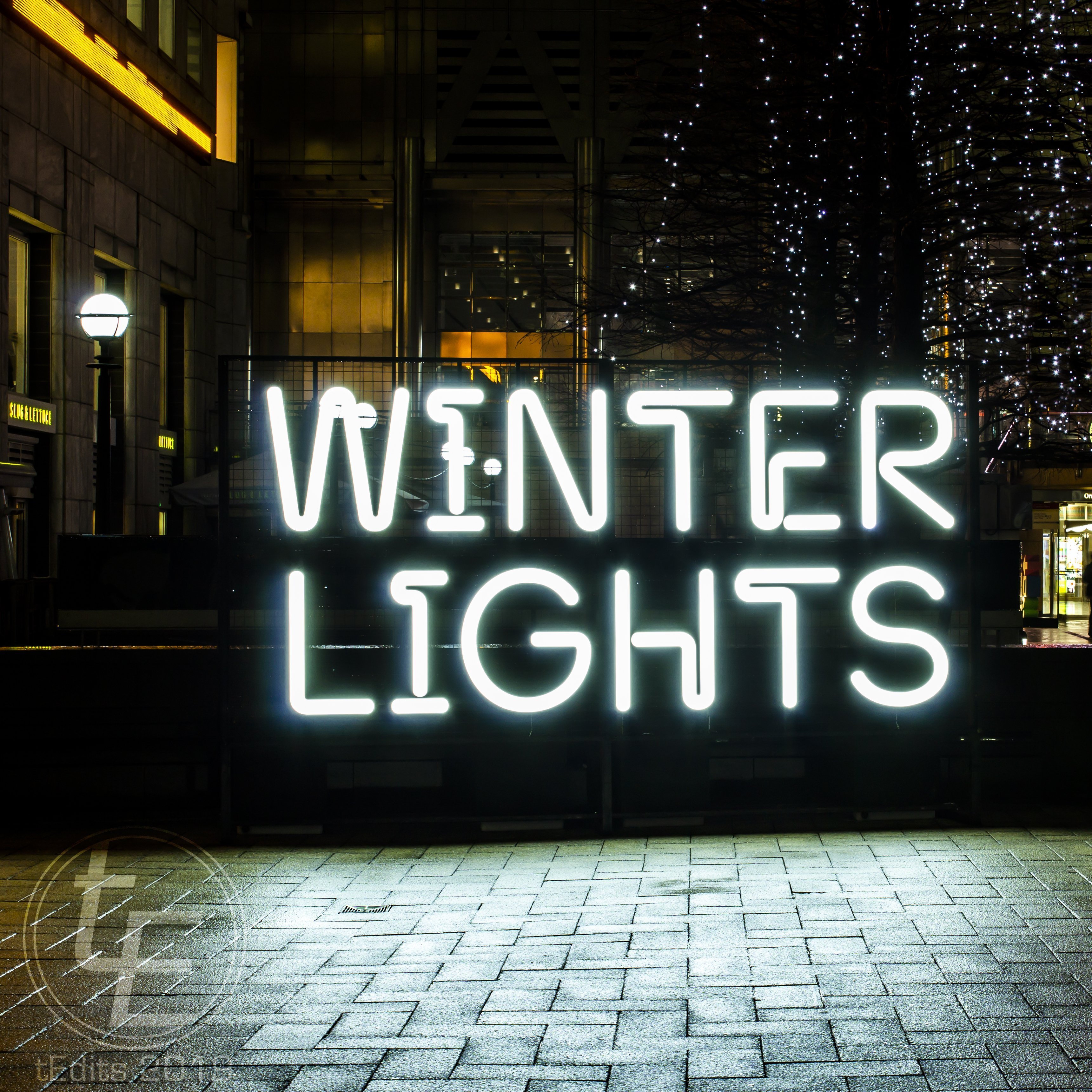 Canary Wharf Winter Lights 2019 - Sign