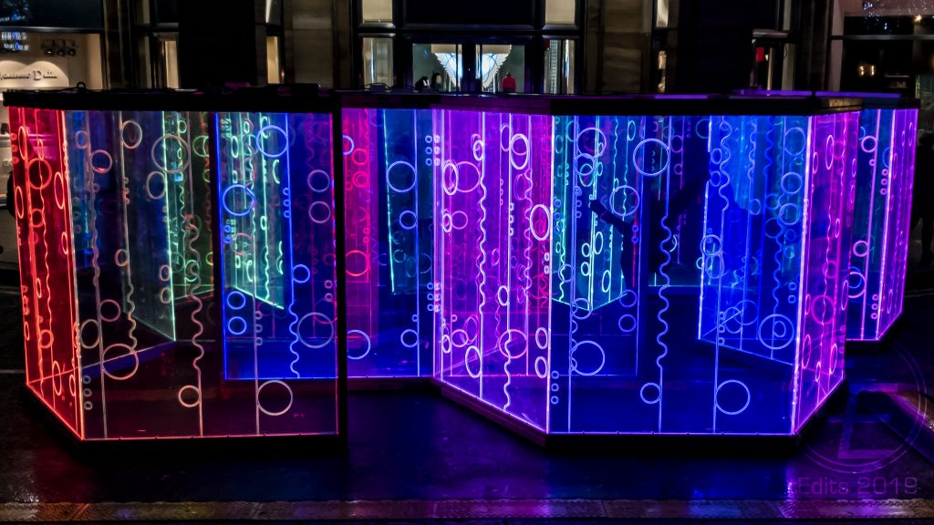 Canary Wharf Winter Lights 2019 - Heofon Light Maze, Ben Busche of Brut Deluxe