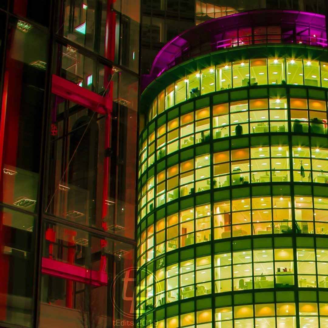 Hiscox Insurance Building Neon