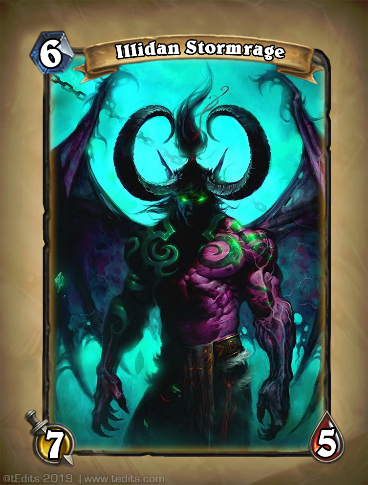 Illidan Stormrage Hearthstone Card Redesign Concept