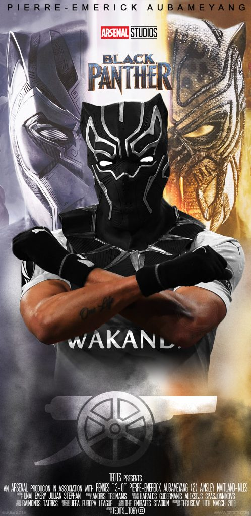 Pierre-Emerick Aubameyang Black Panther