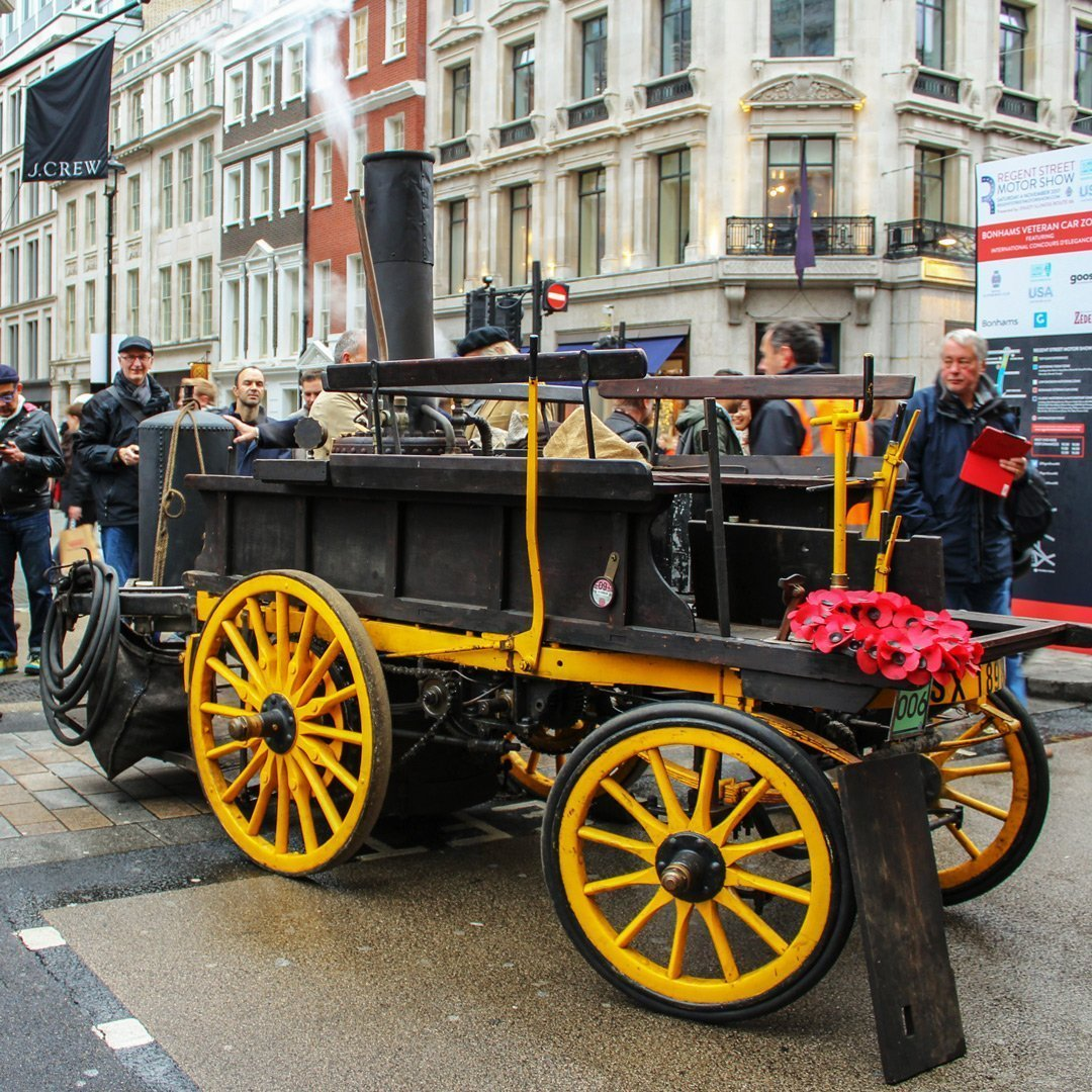 Steam Powered Vehicle Regent Street Motor Show 2017
