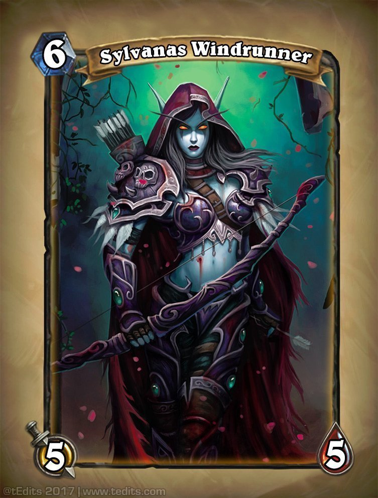 Sylvanas Windrunner Hearthstone Card Redesign Concept