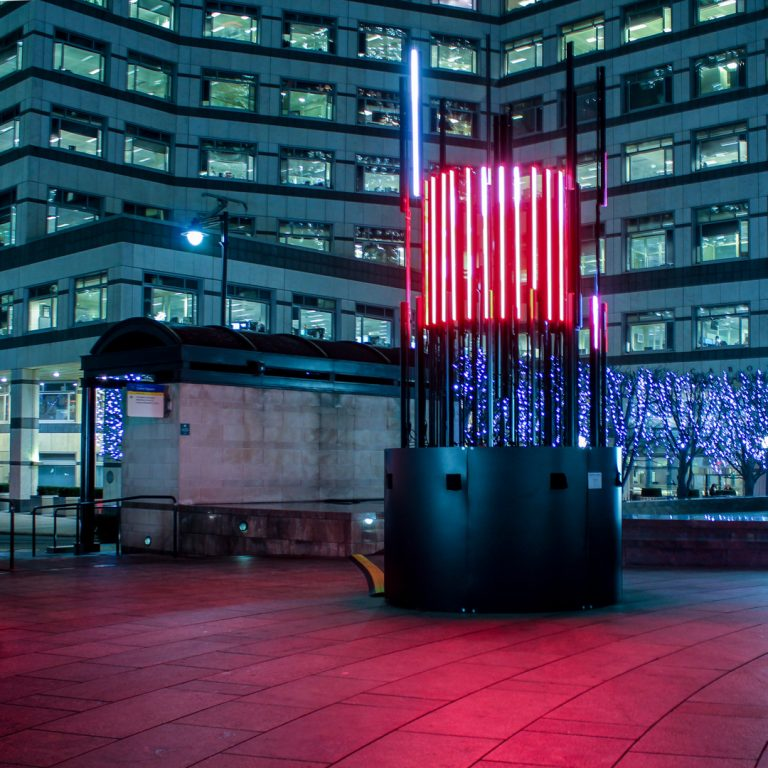 Totem | Bitone Collective | Canary Wharf Winter Lights 2016