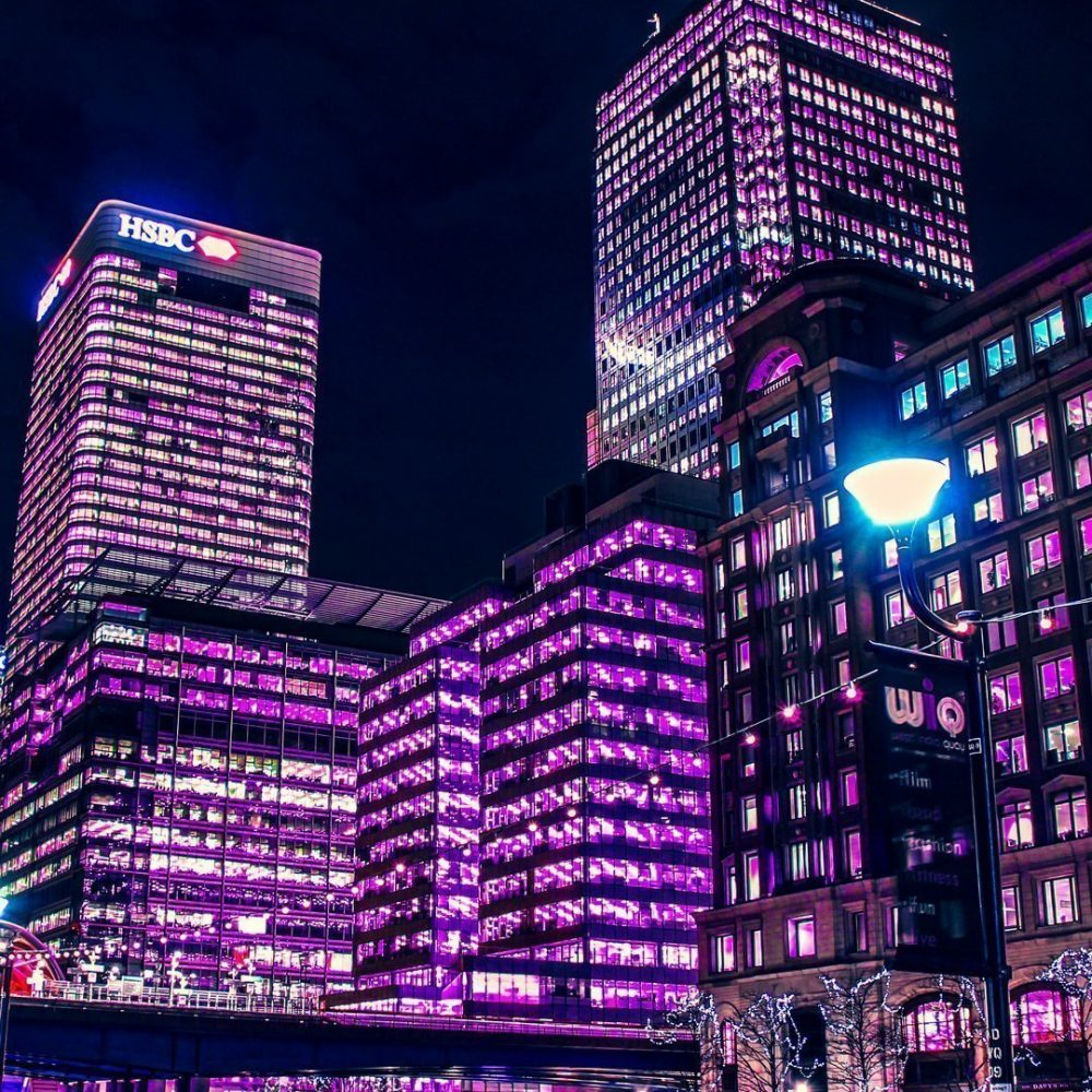 Canary Wharf | Neon London | Poster
