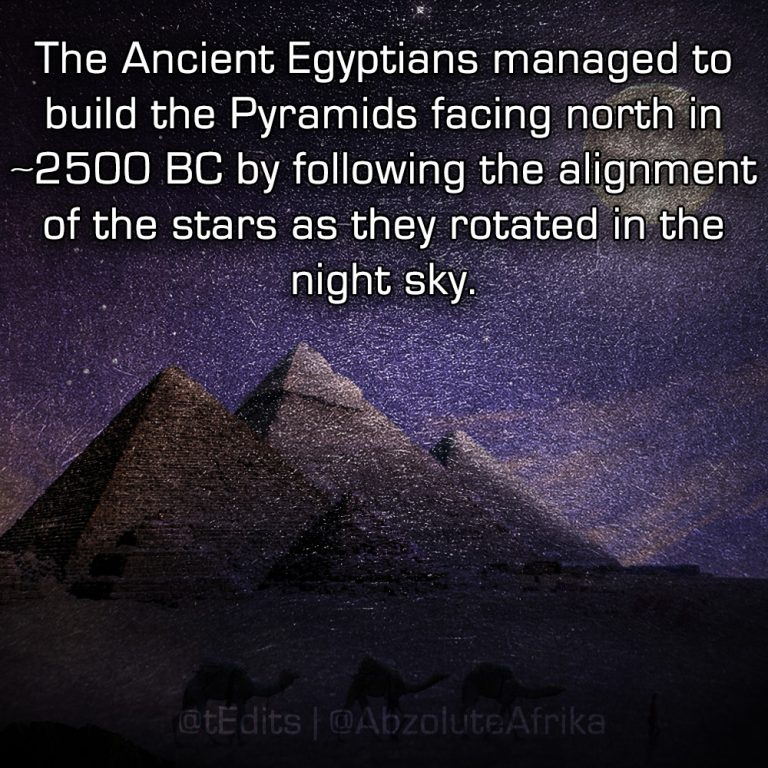 The Ancient Egyptians managed to build the Pyramids facing north in ~2500 BC by following the alignment of the stars as they rotated in the night sky.