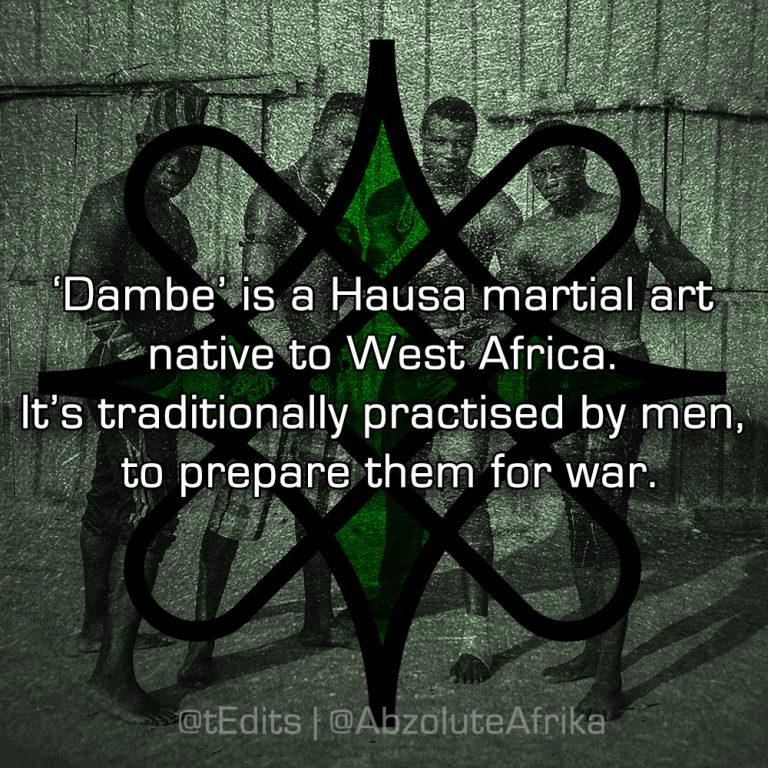 'Dambe' is a Hausa martial art native to West Africa. It's traditionally practised by men, to prepare them for war.