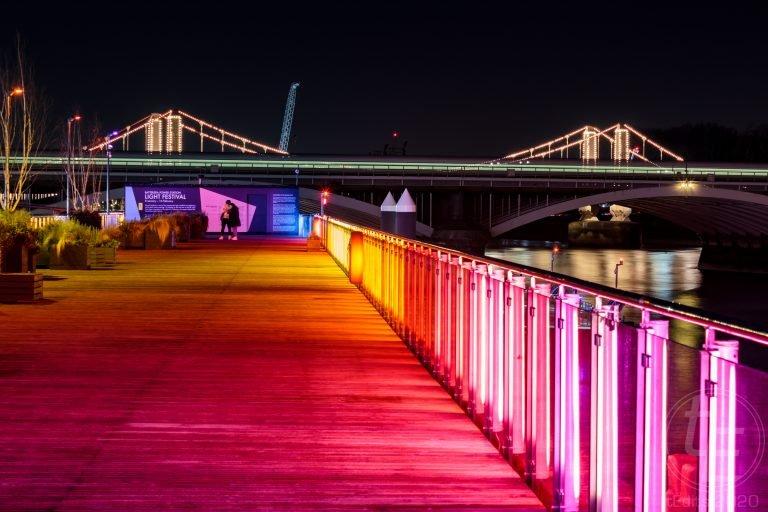 Battersea Power Station Light Festival - Eternal Sundown and Chelsea Bridge 2