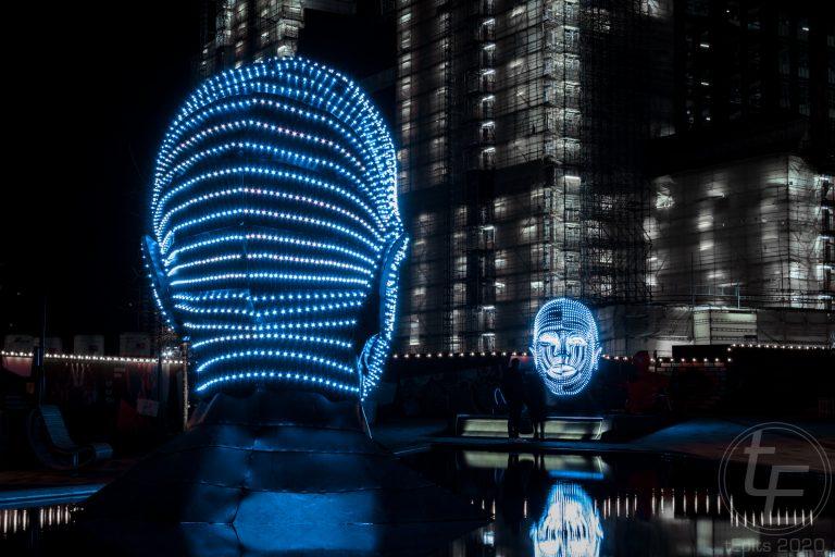 Battersea Power Station Light Festival - Talking Heads 1