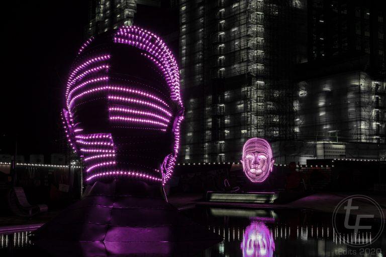 Battersea Power Station Light Festival - Talking Heads 3