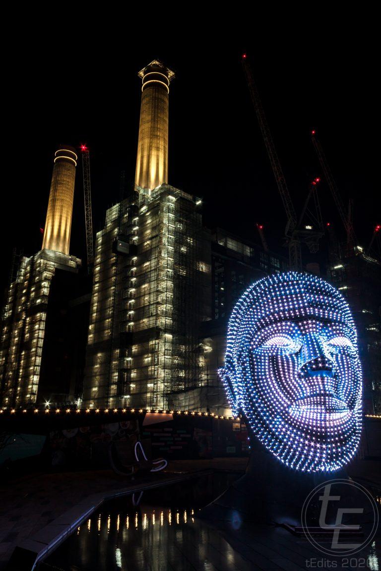 Battersea Power Station Light Festival - Talking Heads 7