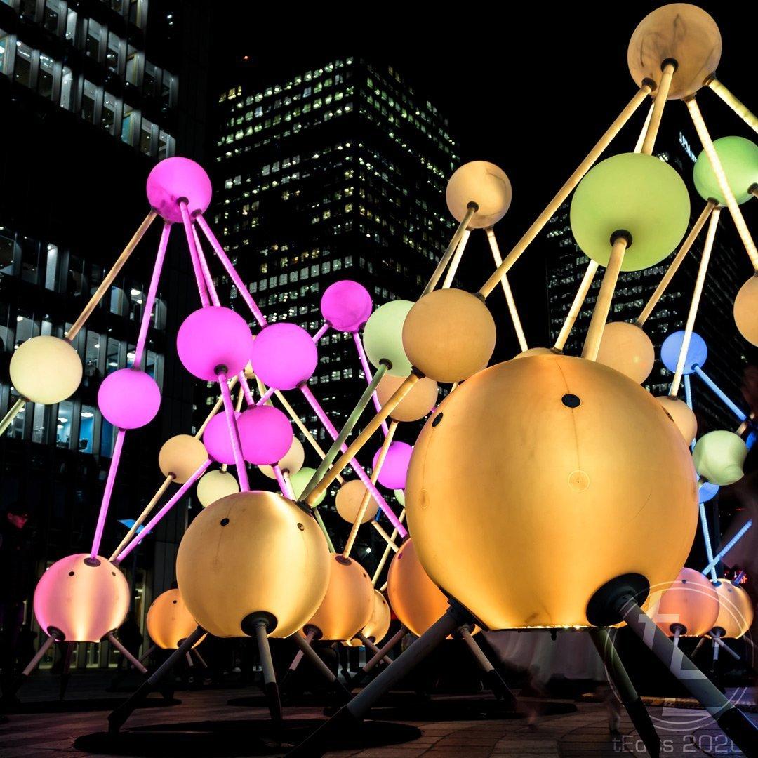 Canary Wharf Winter Lights 2020 - Affinity by Amigo & Amigo and S1T2