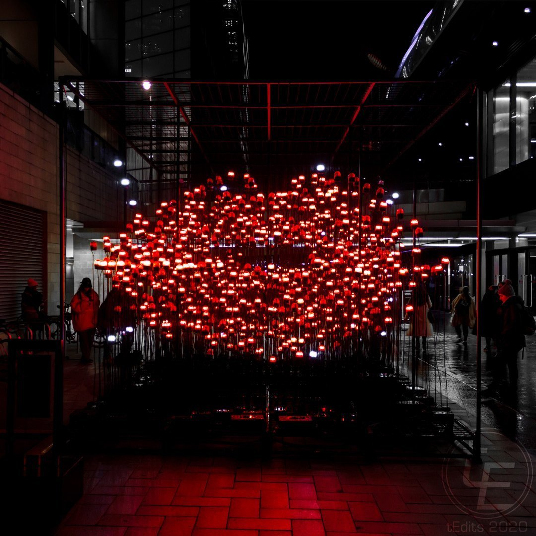 Canary Wharf Winter Lights 2020 - Desire by UXU Studio