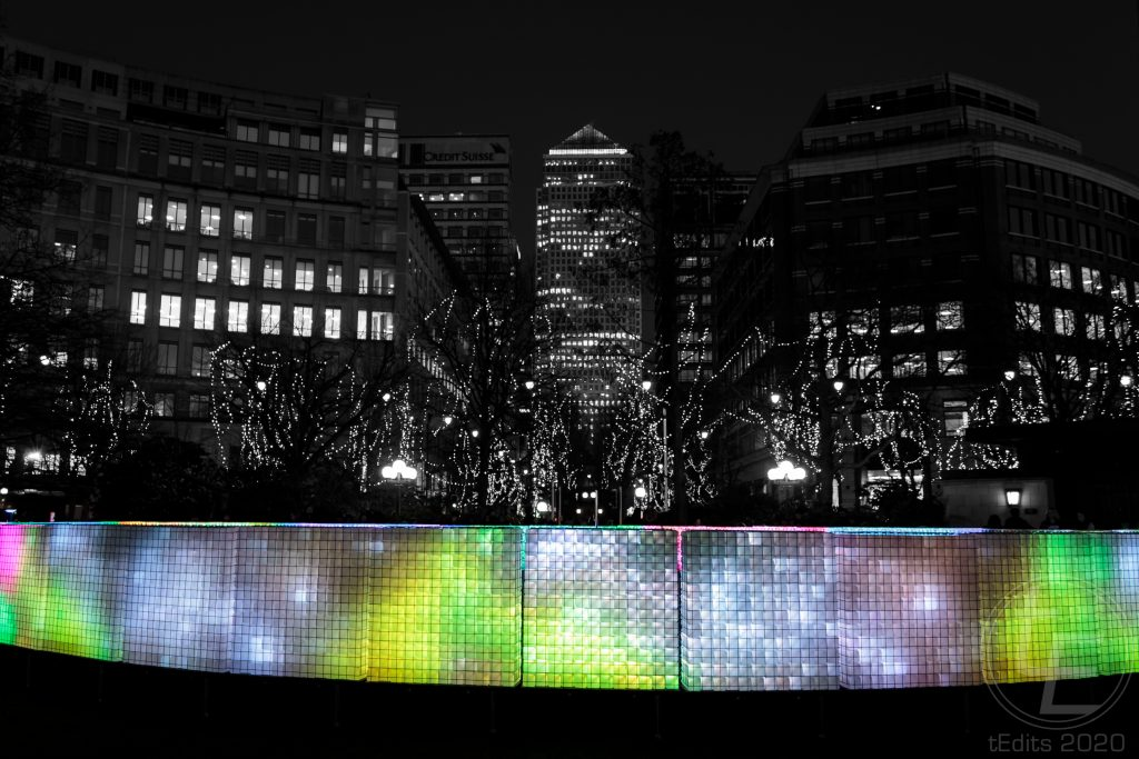 Canary Wharf Winter Lights 2020 - Lactolight 2
