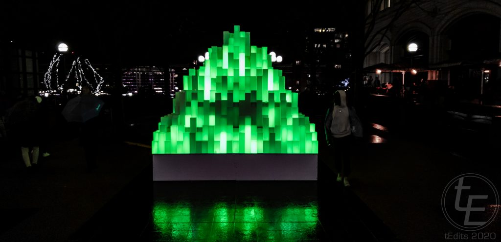 Canary Wharf Winter Lights 2020 - Mountain of Light by Angus Muir Design