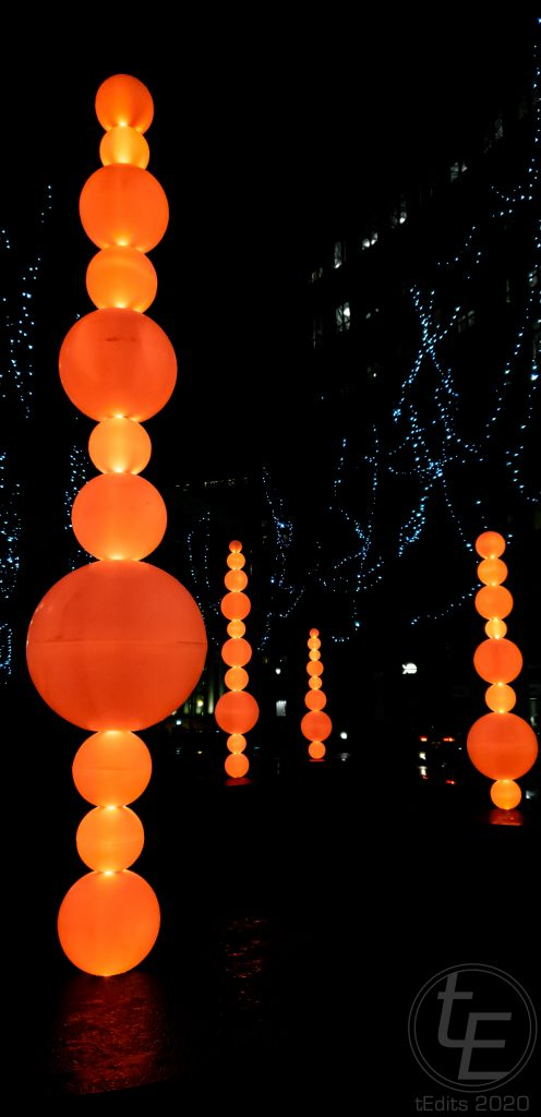 Canary Wharf Winter Lights 2020 - Shish-Ka-Buoy by Angus Muir Design