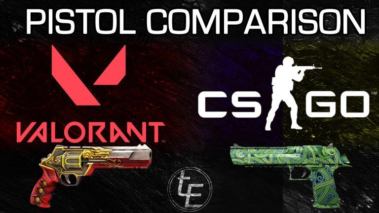 Valorant vs CSGO   Pistol Comparison