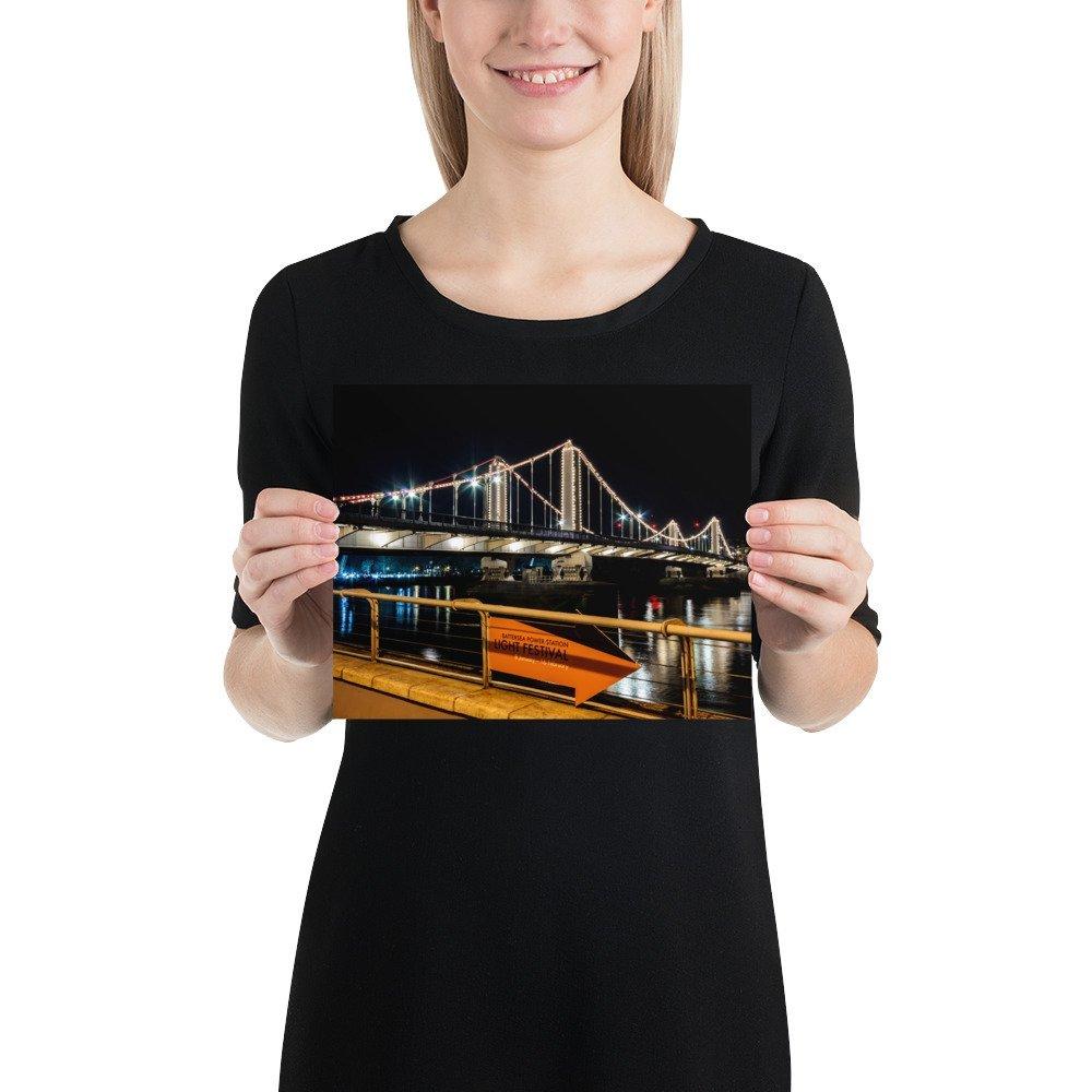 Chelsea Bridge | Battersea Power Station Light Festival | Poster