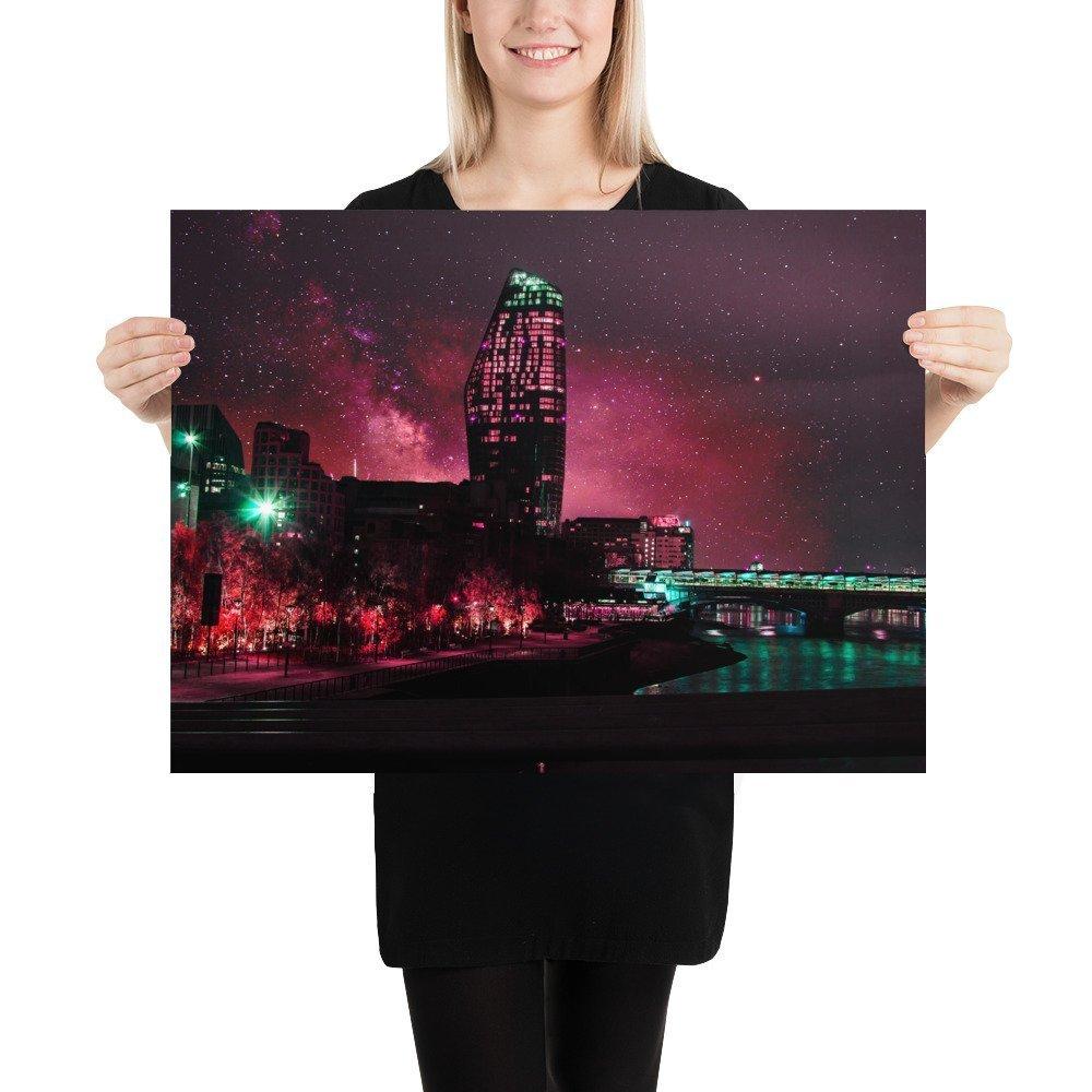 One Blackfriars | Neon London | Poster