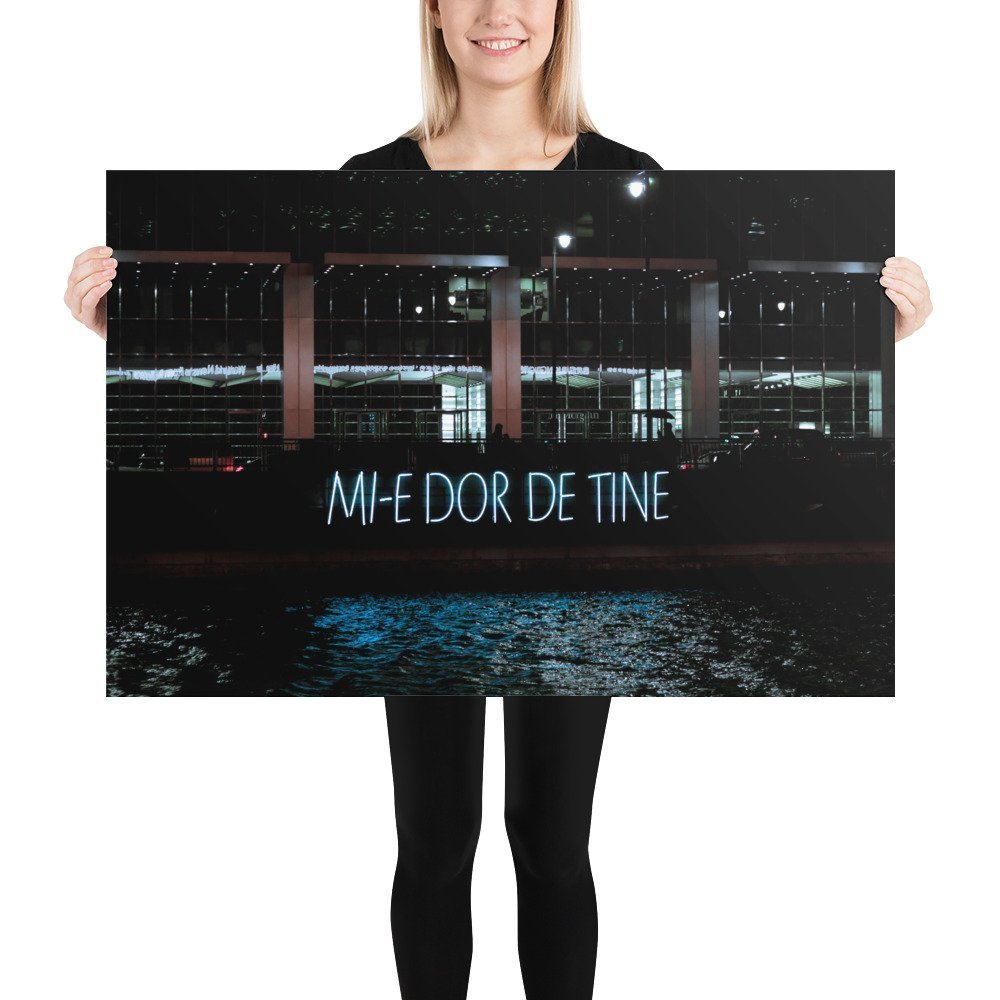 Mi-e Dor De Tine by Daisler Association | Canary Wharf Winter Lights 2020 | Poster