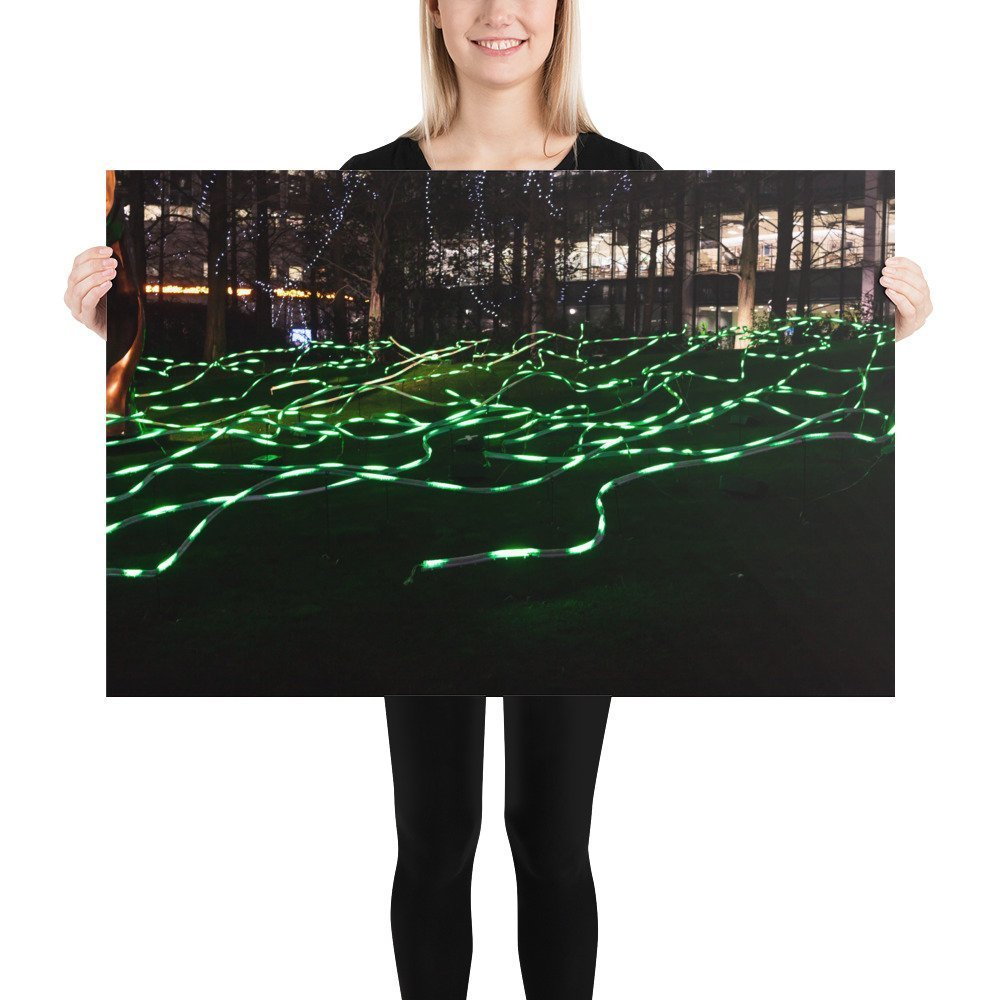 Squiggle by Angus Muir Design | Canary Wharf Winter Lights 2020 | Poster