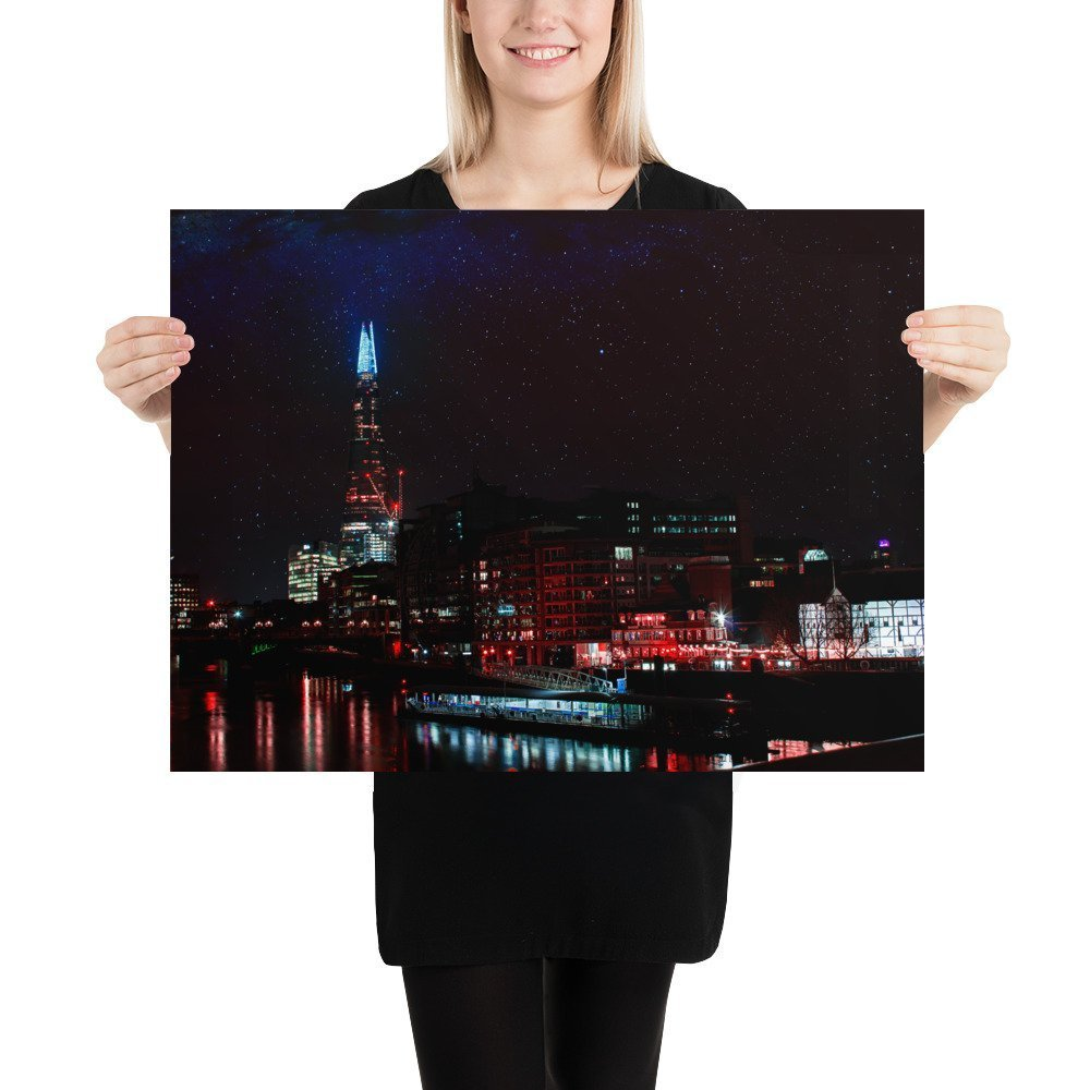 The Shard Dreamscape | Neon London | Poster