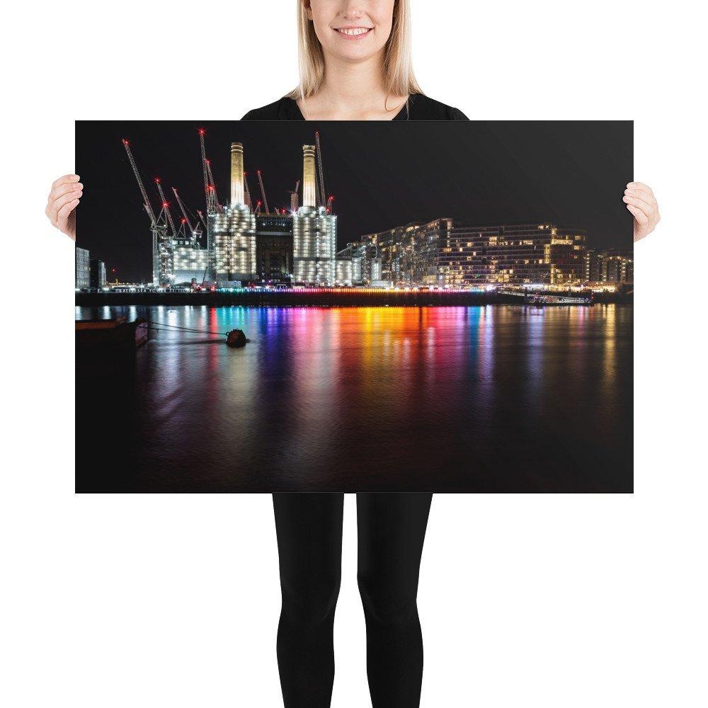 Eternal Sundown | Battersea Power Station Light Festival | Poster