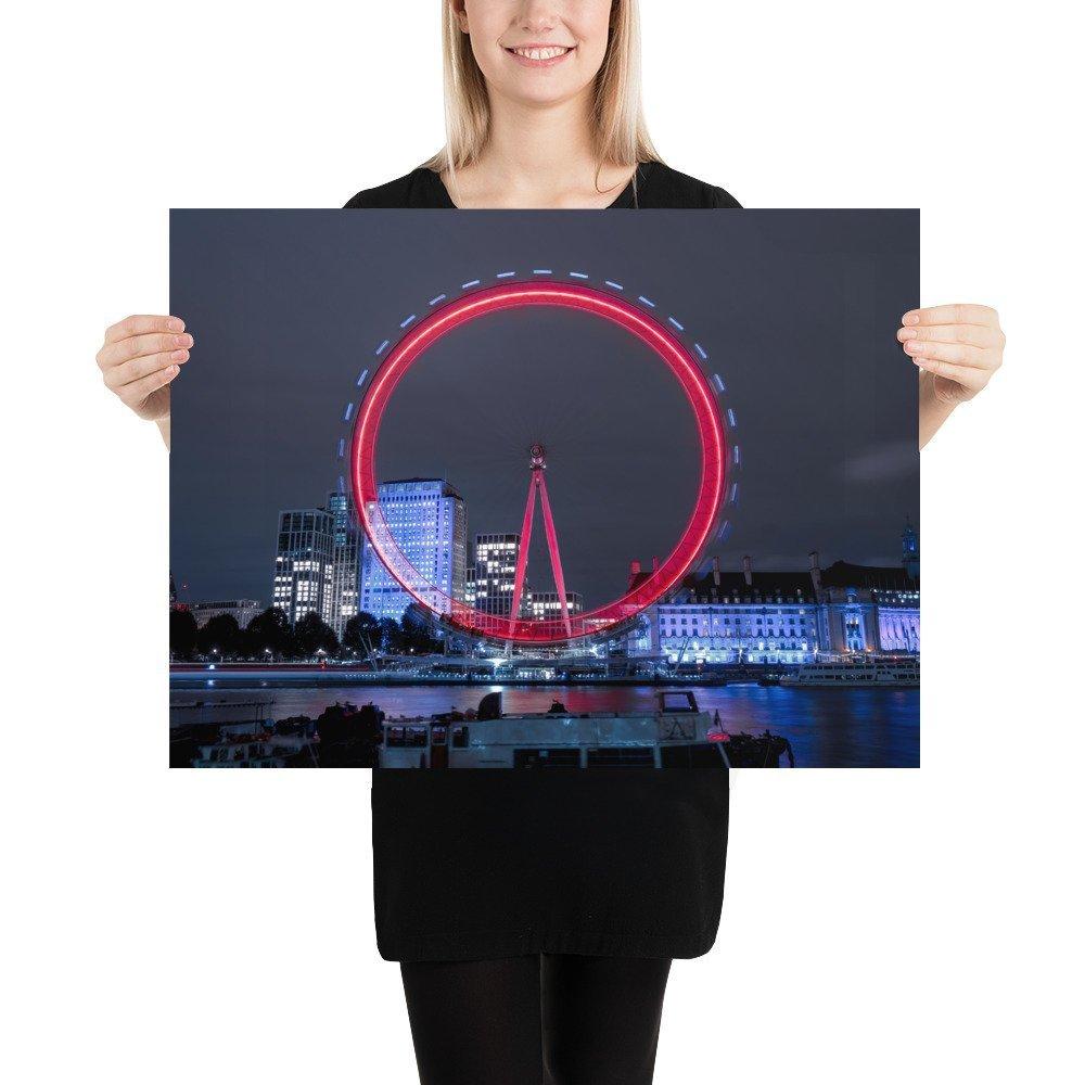 The London Eye | Neon London | Poster