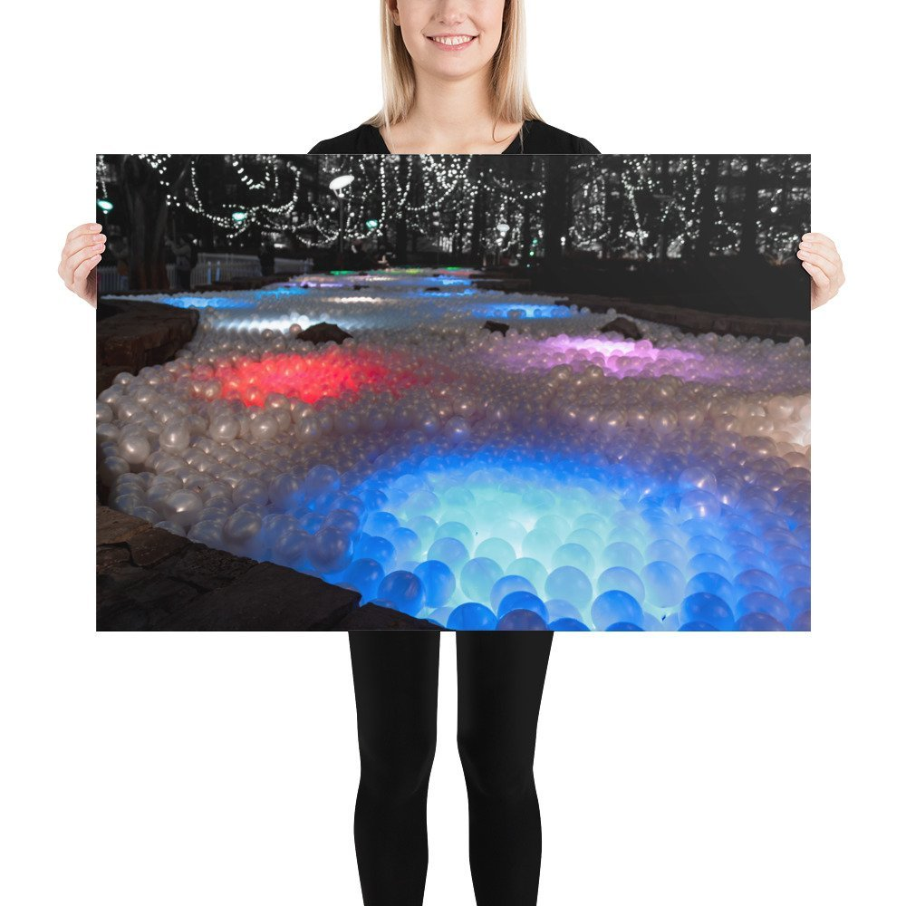 Pools of Light by Ballie Ballerson | Canary Wharf Winter Lights 2020 | Poster