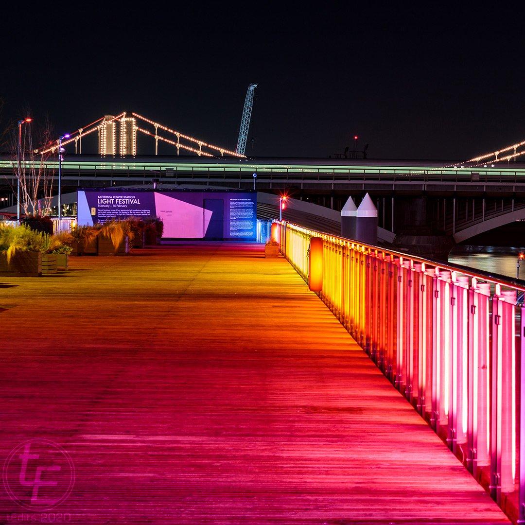 Battersea Power Station Light Festival 2020 - Chelsea Bridge