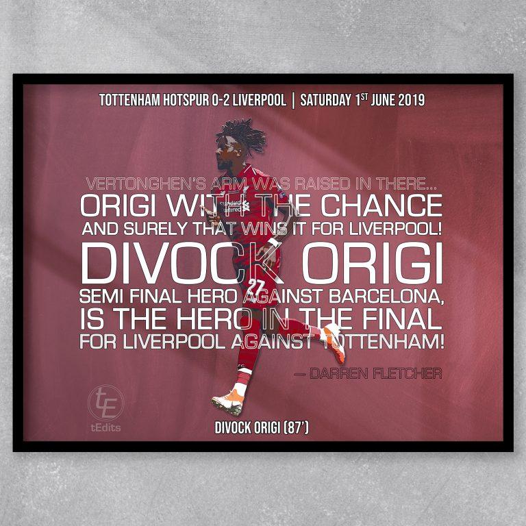Divock Origi vs Spurs, 2019