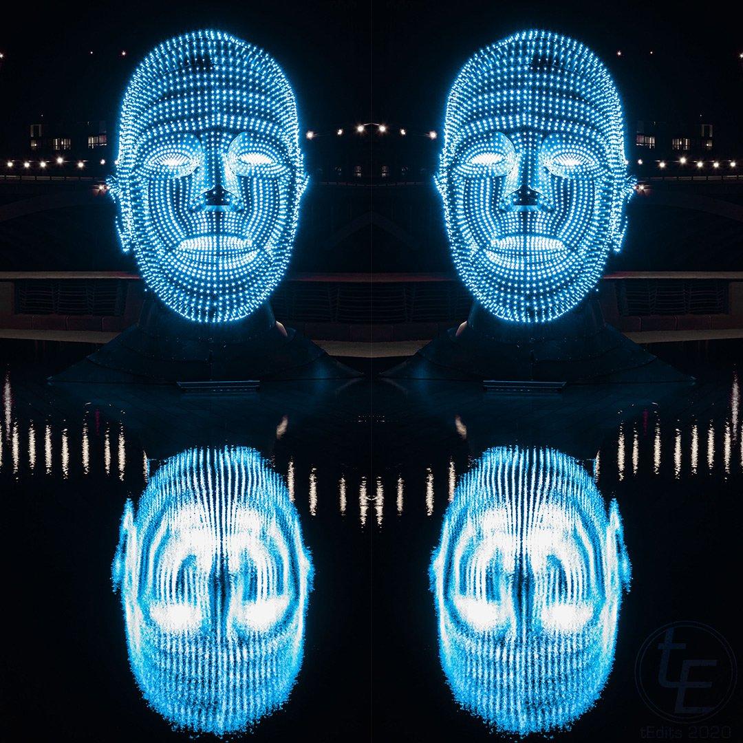 Battersea Power Station Light Festival 2020 - Talking Heads