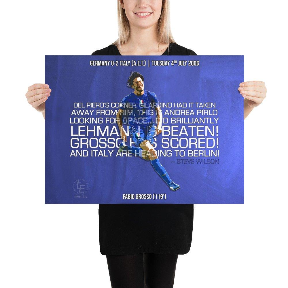 Fabio Grosso vs Germany, 2006 | Poster