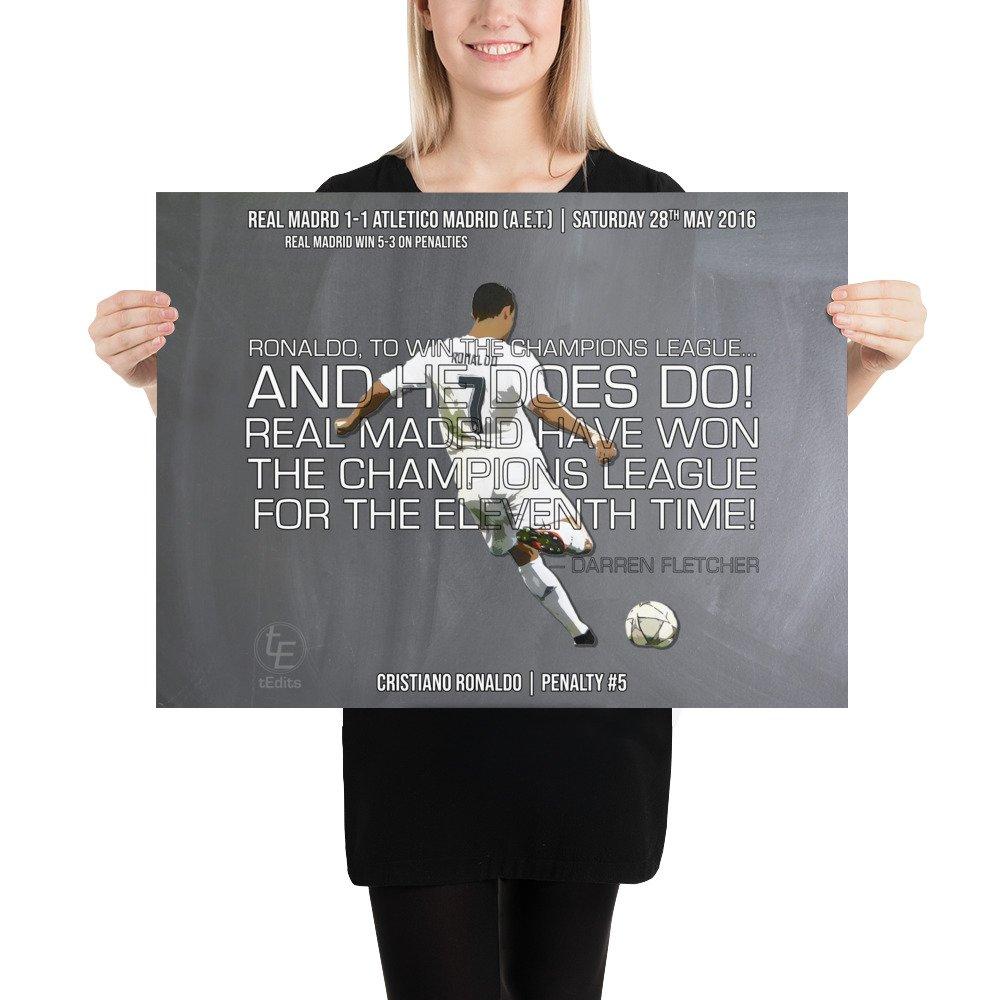 Cristiano Ronaldo vs Atletico Madrid, 2016 | Poster