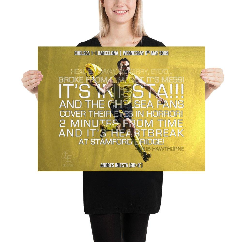 Andres Iniesta vs Chelsea, 2009 | Poster