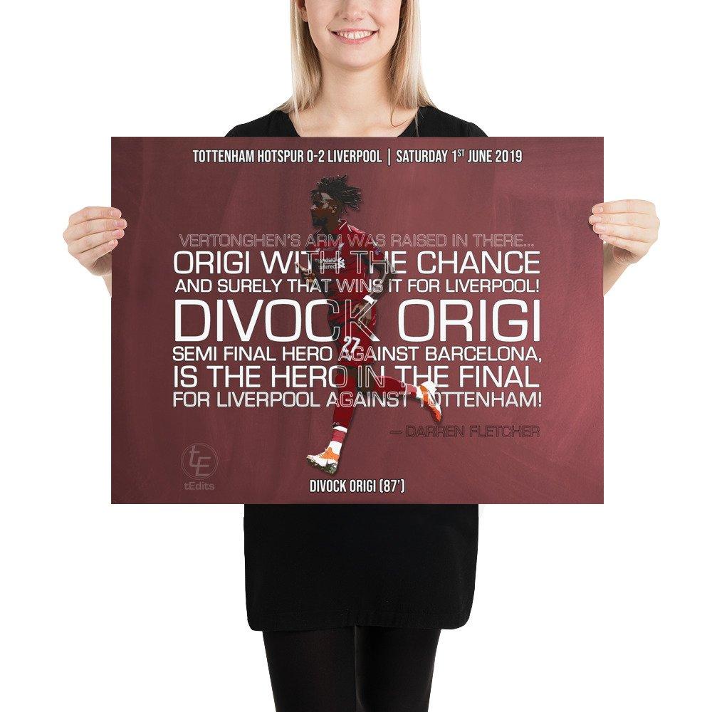 Divock Origi vs Tottenham, 2019 | Poster