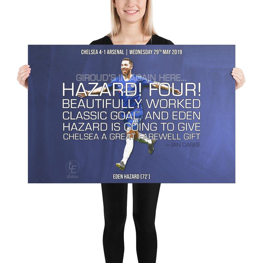 Eden Hazard vs Arsenal, 2019 | Poster