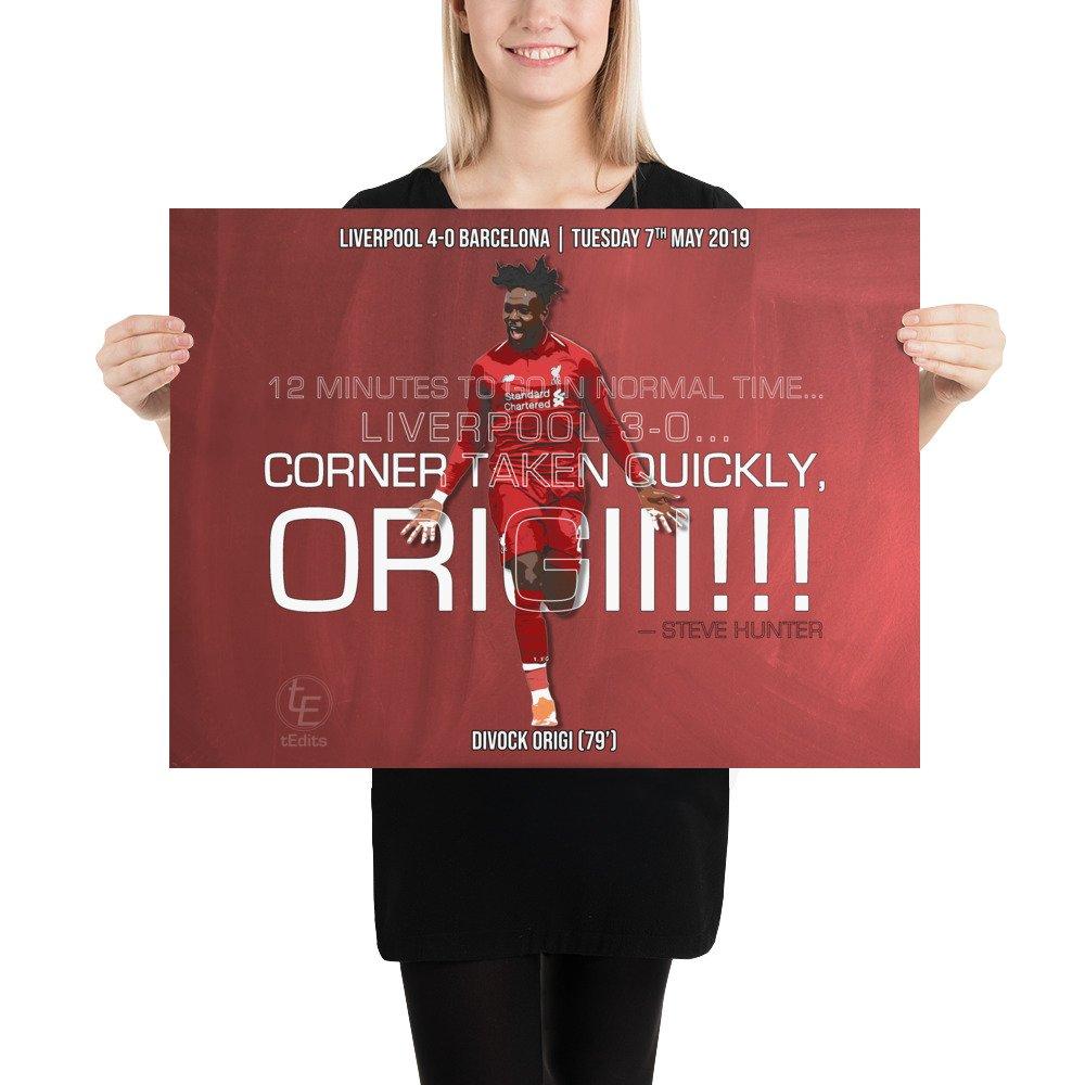Divock Origi vs Barcelona, 2019 | Poster