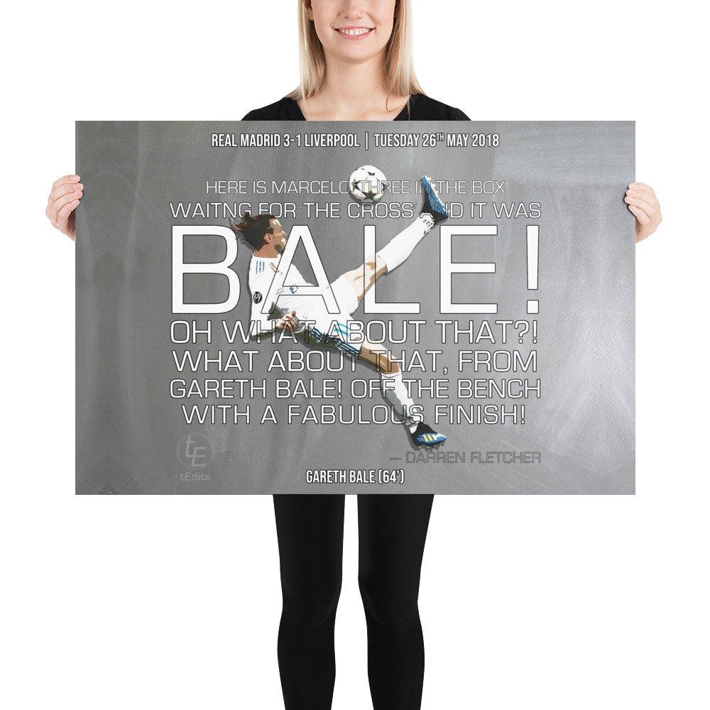 Gareth Bale vs Liverpool, 2018 | Poster