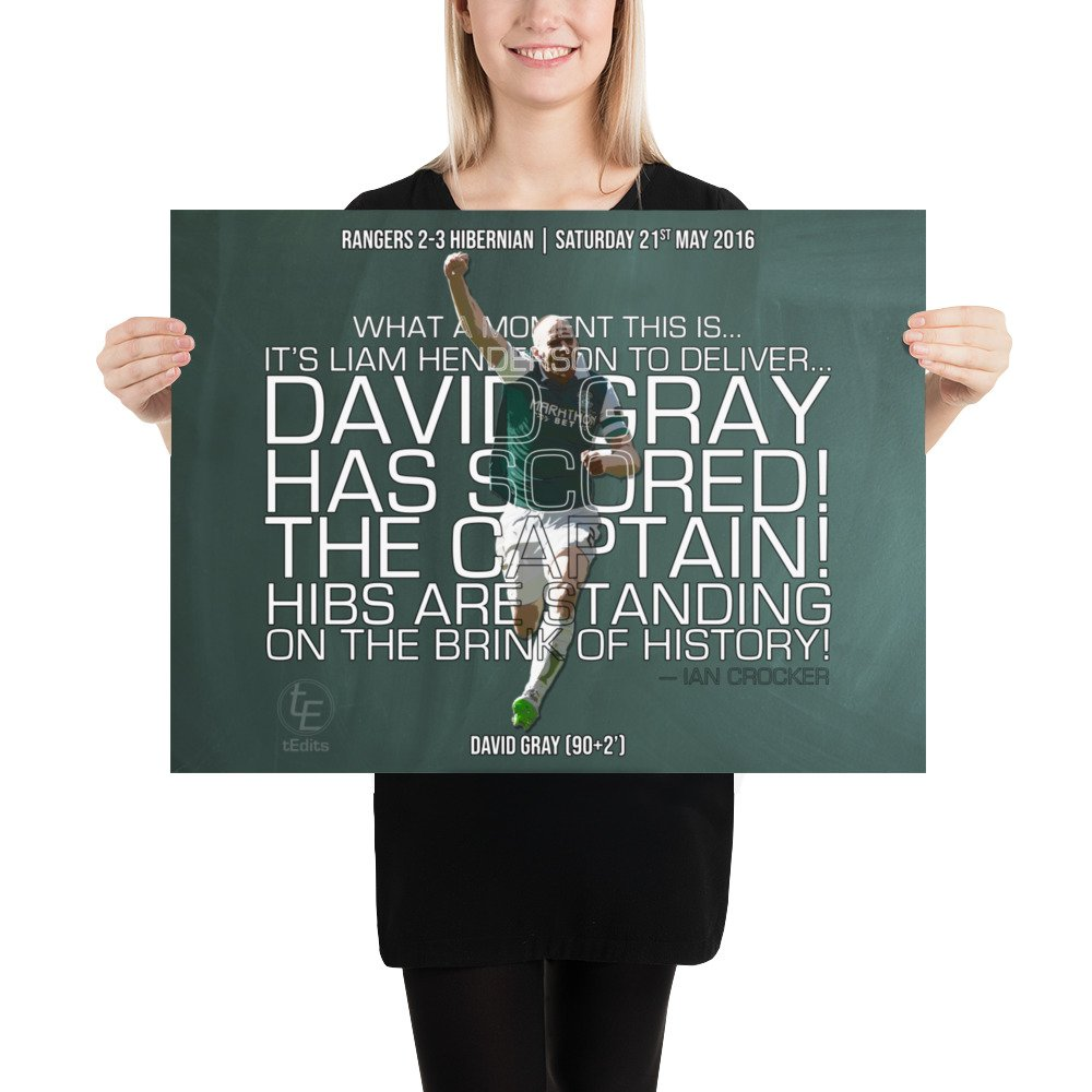 David Gray vs Rangers, 2016 | Poster