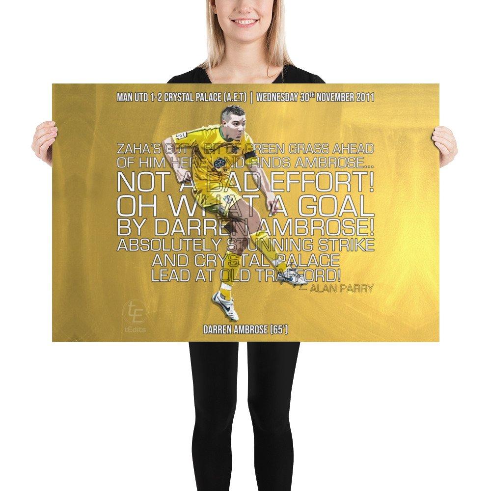 Darren Ambrose vs Man Utd, 2011 | Poster