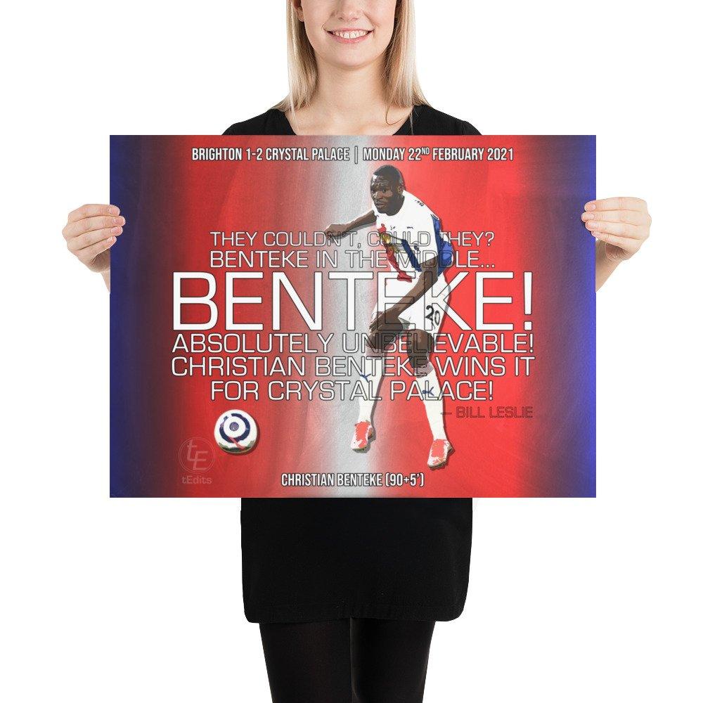 Christian Benteke vs Brighton, 2021 | Poster