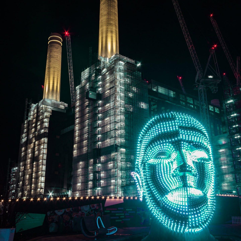 Battersea Power Station Light Festival - Talking Heads 10
