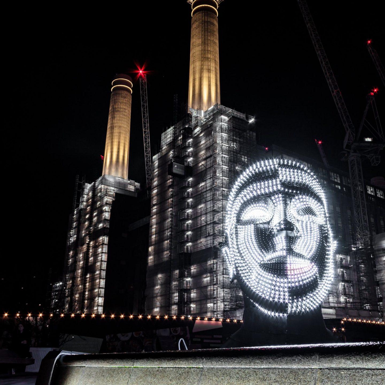 Battersea Power Station Light Festival - Talking Heads 13