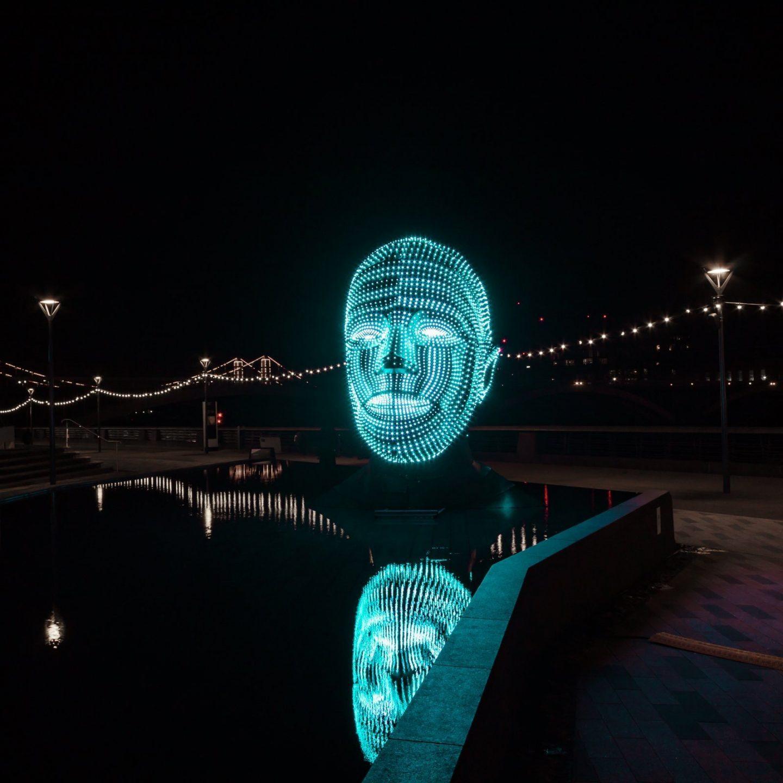 Battersea Power Station Light Festival - Talking Heads 5