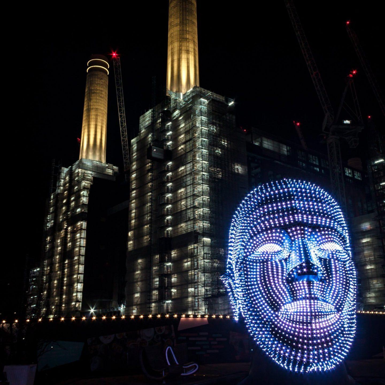 Battersea Power Station Light Festival - Talking Heads 8