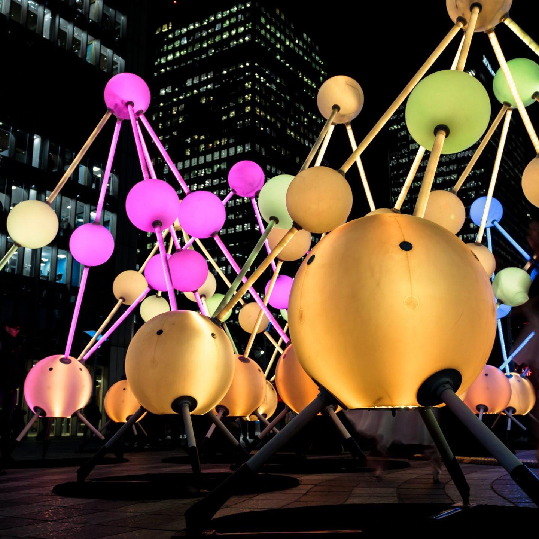 Canary Wharf Winter Lights 2020 - Affinity by Amigo & Amgio and S1T2